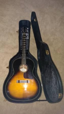 Epiphone EL-00 VS Vintage Sunburst Acoustic Guitar + Case – EXCELLENT!