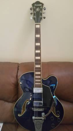Ibanez AFS75 Hollowbody with Bigsby/W Case