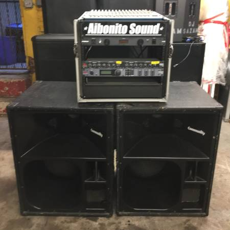 pair of 1980's Community Light and Sound 4 way speakers $200