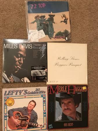 Vinyl albums,Rolling Stones, merle haggard, lefty frizzel, miles davi