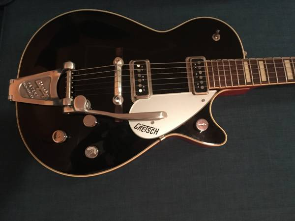Gretsch 6128 1955 Style in Black Lacquer Tweed Case Duo Jet