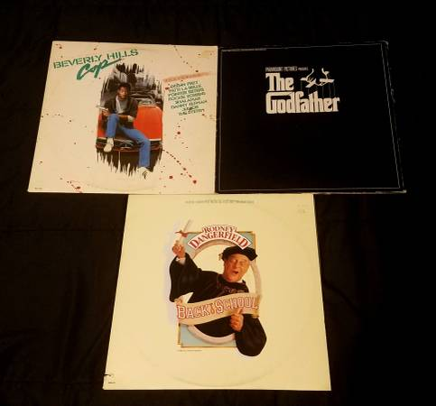 The Godfather/Beverly Hills Cop/Back To School OST Vinyl LP Lot