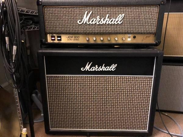Voodoo modded Marshall JCM800 2204 + 2×12 w/ Scumback speakers