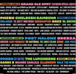 2 GA Tickets + Souvenir Tent Package to Bonnaroo Music and Arts Festiv