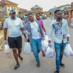 Koye comedian distributed foodstuffs to more than 300 Families in Abeokuta(Photos)