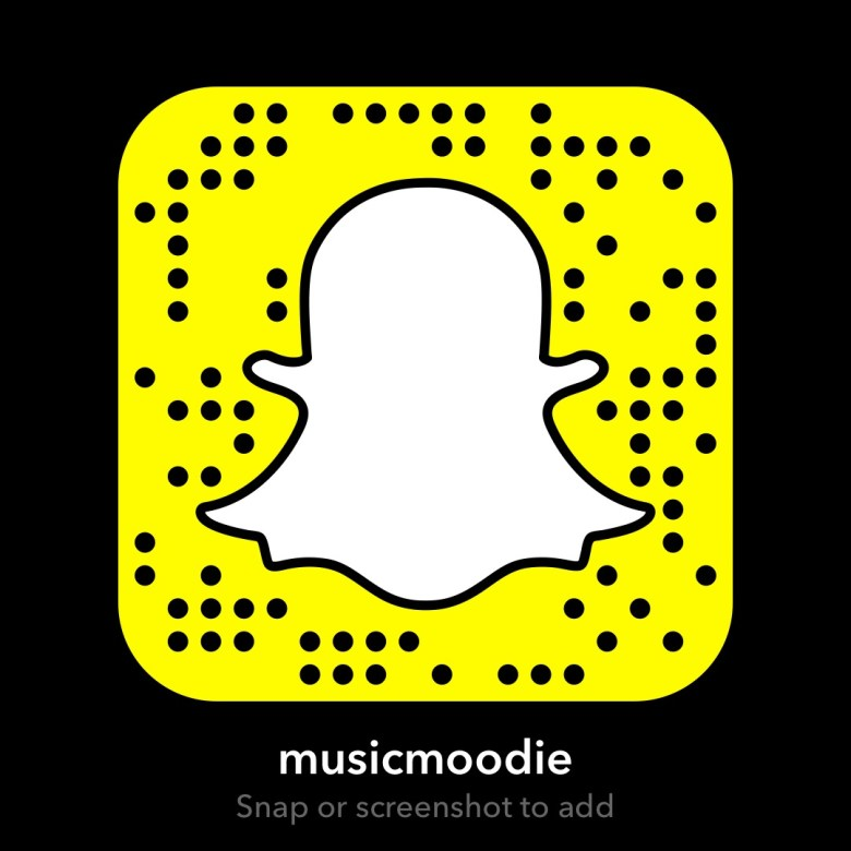 MOODIE music snapchat code