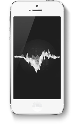 Smartphone with music sound wave
