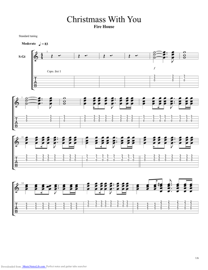 Firehouse Christmas With You Guitar Chords Christmaswalls