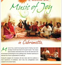 Evening of Music & Meditation in Sydney – Friday 12th February 2016