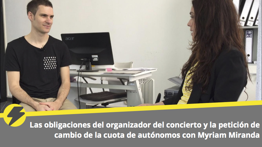 Las obligaciones del organizador del concierto y la petición de cambio de la cuota de autónomos con Myriam Miranda