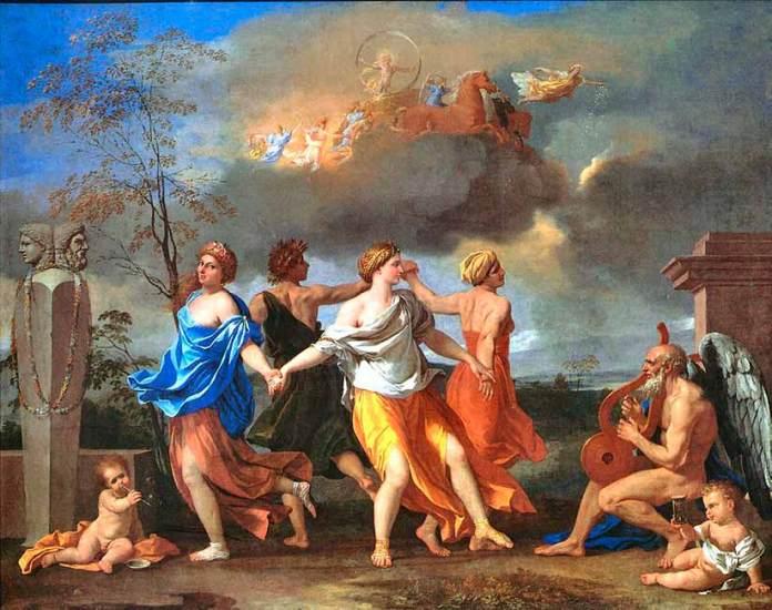 pintura-antiga-de-Nicolas-Poussin