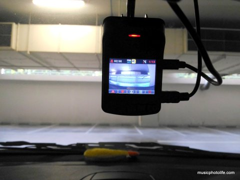 ASUS RECO car cam installed