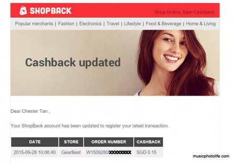 ShopBack screenshot