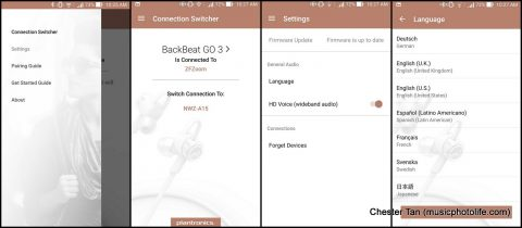 Plantronics BackBeat GO 3 google app screen shots