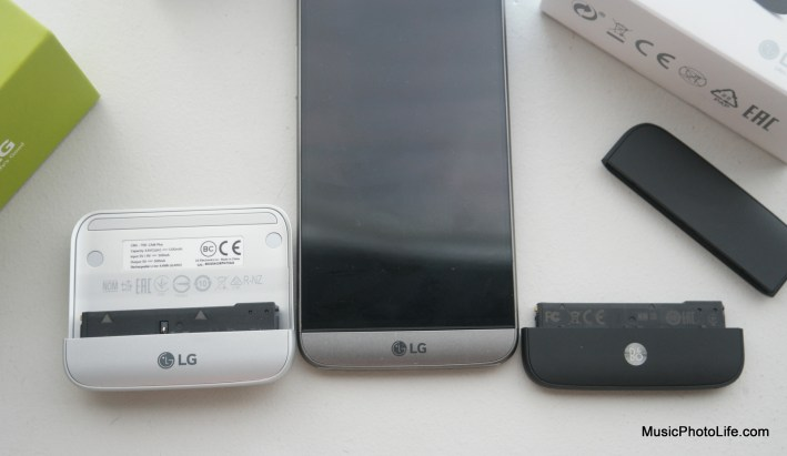 LG G5 modules size comparison
