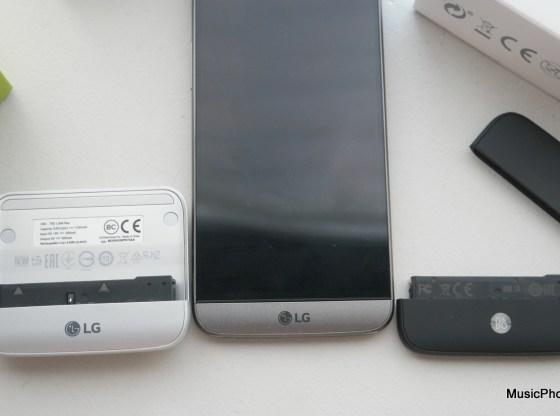 LG G5 modules size comparison