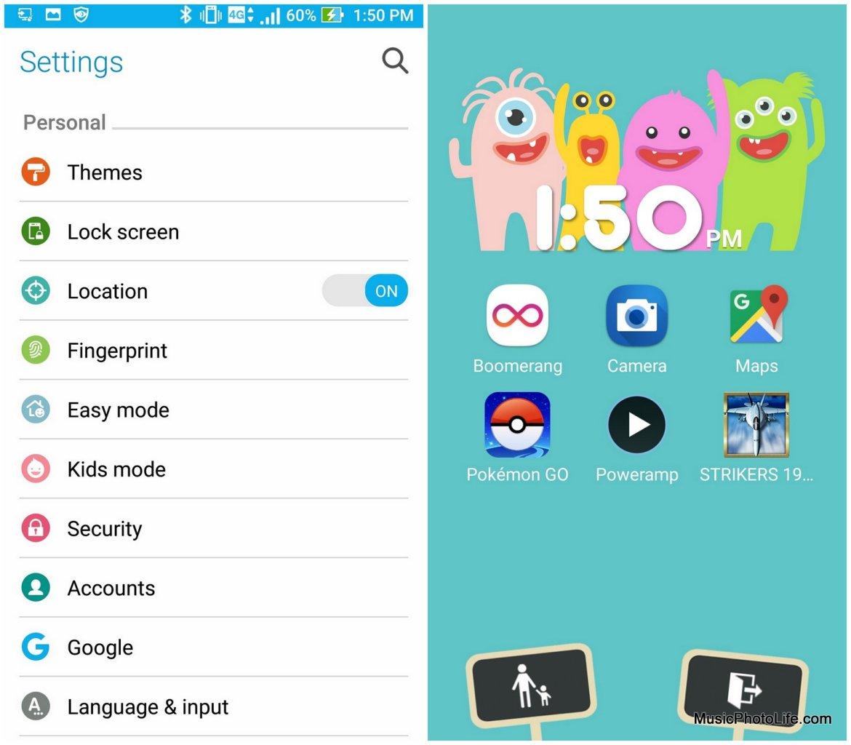 ASUS Zenfone 3 ZE552KL Kids Mode