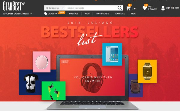 GearBest Promotion Aug 2016