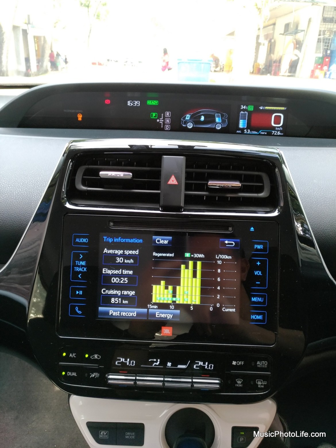 Toyota Prius 2016 multi-information display