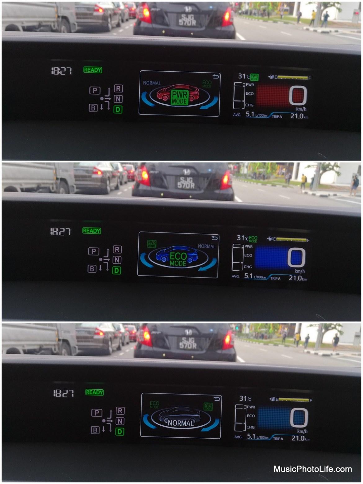 Toyota Prius 2016 drive modes