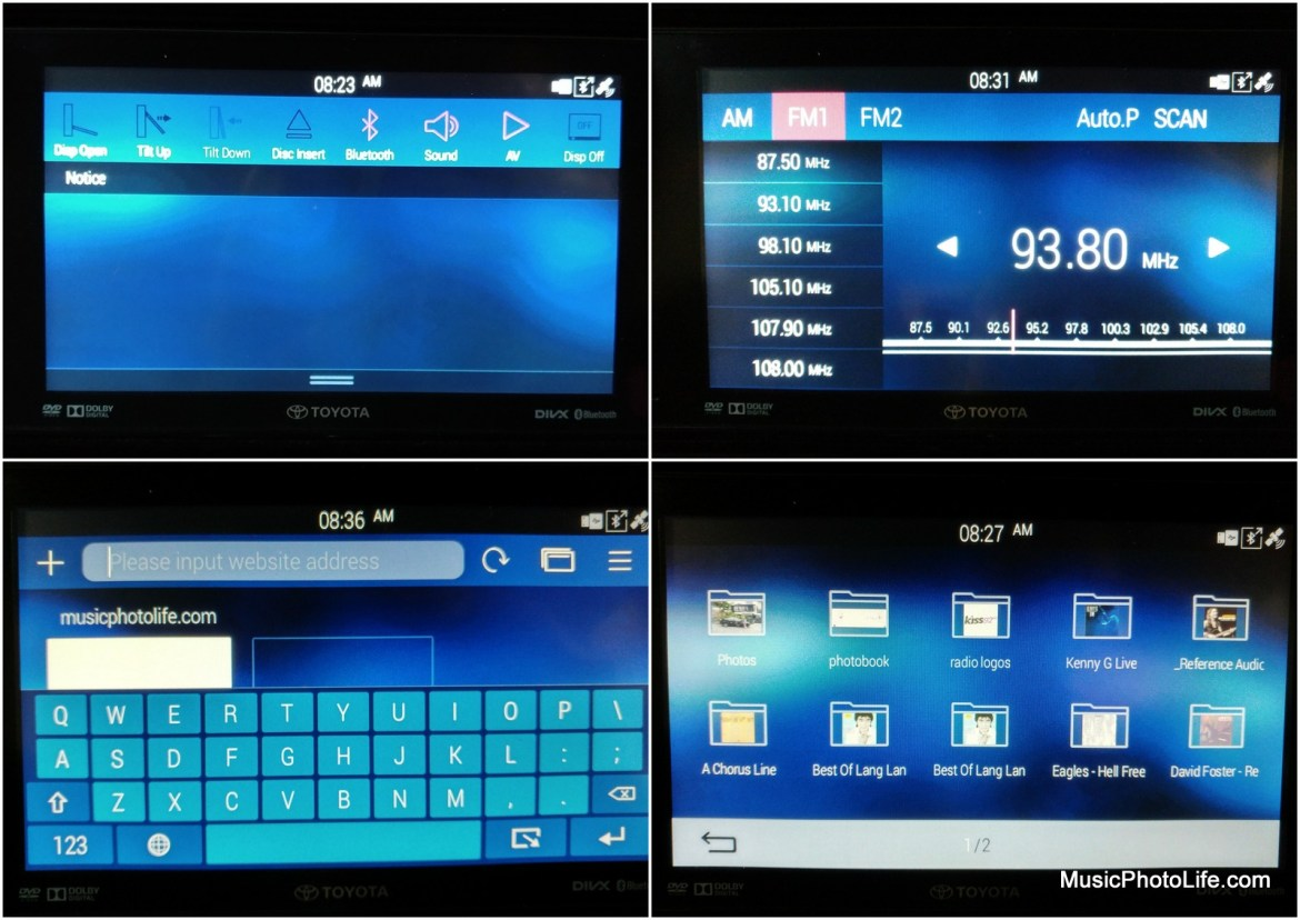 Telematics System on the Toyota Fortuner comes with web browser, photo viewer, video player