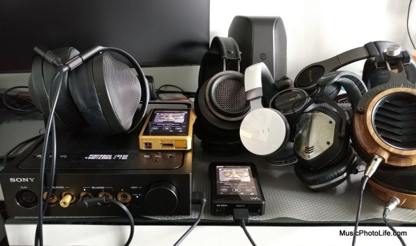 Mountain of headphones to compare with the Sony Signature series: musicphotolife.com