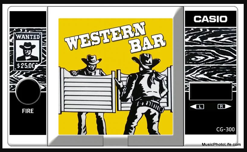 Western Bar Casio Handheld Game 1984, Now on Android and iOS