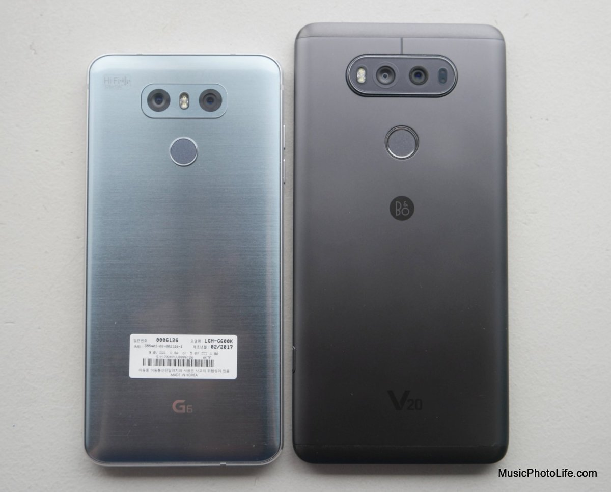 LG G6 and LG V20 Quad DAC Comparison