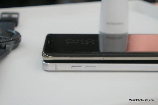 Samsung Galaxy S8 vs. LG G6 - sides