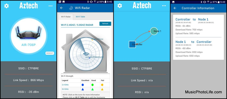 Aztech Smart Network app review by musicphotolife.com