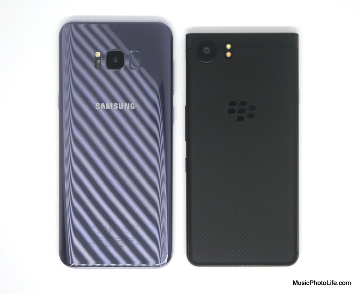 BlackBerry KEYone compare to Samsung Galaxy S8+