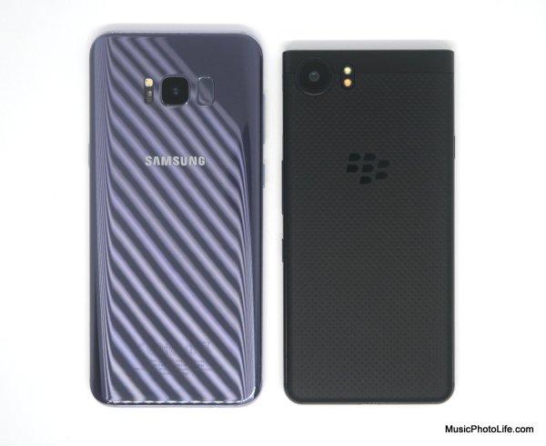 BlackBerry KEYone compare to Samsung Galaxy S8+