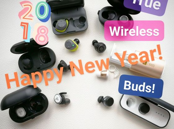 Happy New Year 2018 True Wireless Earbuds by musicphotolife