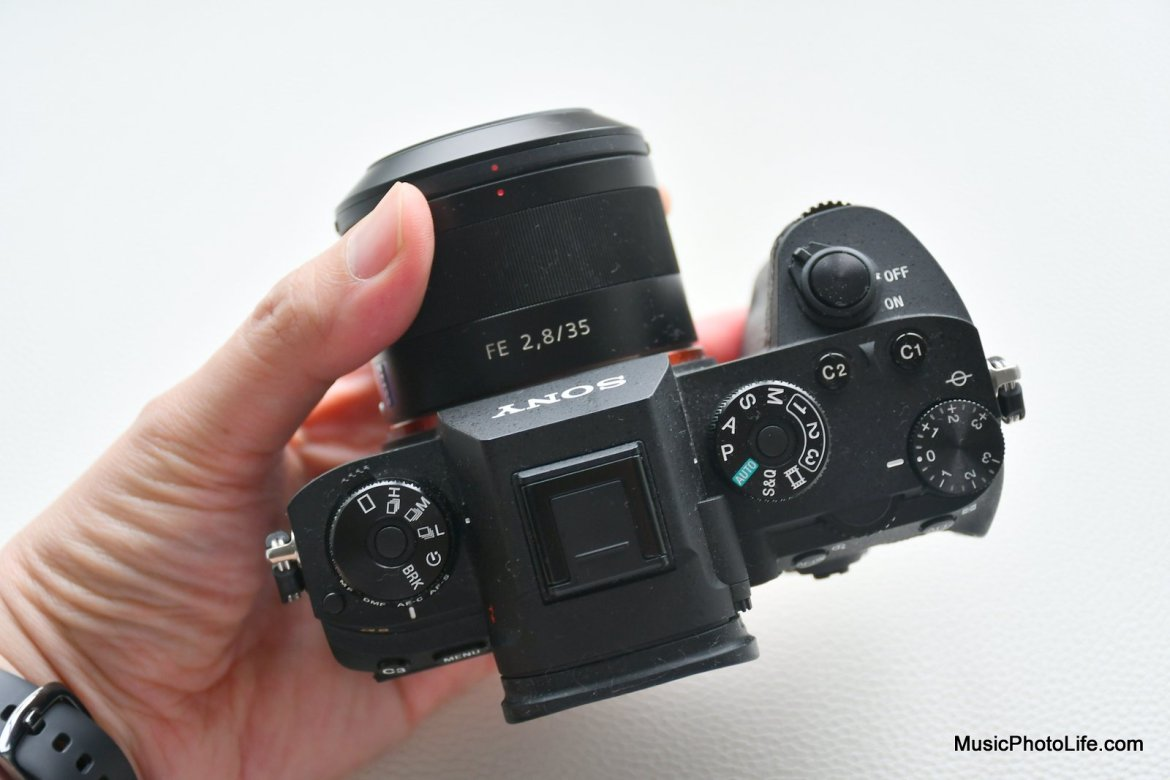Sony A9 review top down view