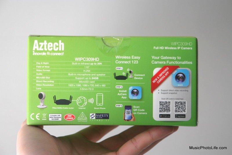 Aztech WIPC309HD IP Webcam retail box