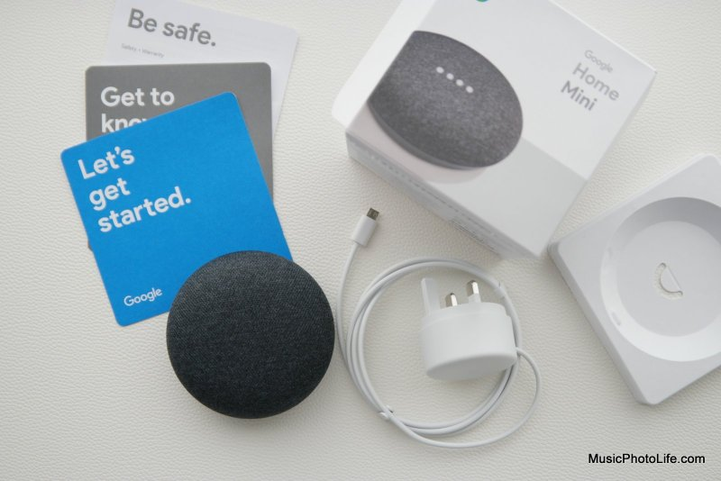 Google Home Mini unboxing by musicphotolife.com
