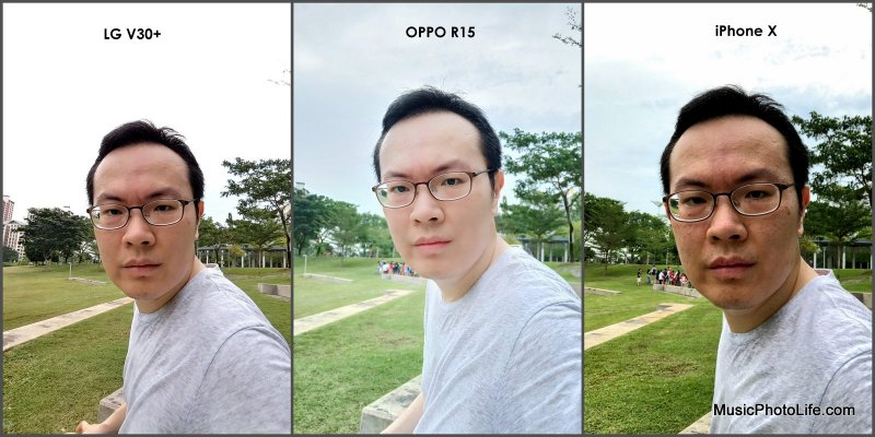 Compare OPPO R15 LG V30+ iPhone X