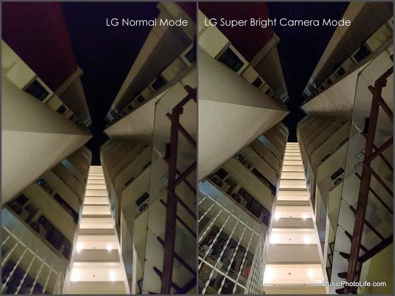 LG G7+ Super Bright Cam Mode