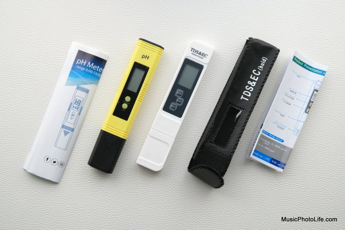 Testing Alkaline Water System with pH meter and TDS/EC meter