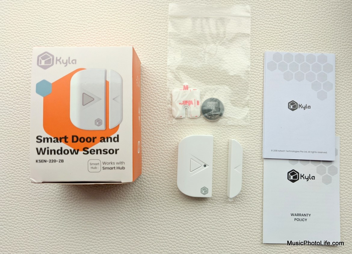 Aztech Kyla Gen 2 Smart Door and Windows Sensor review by Music Photo Life