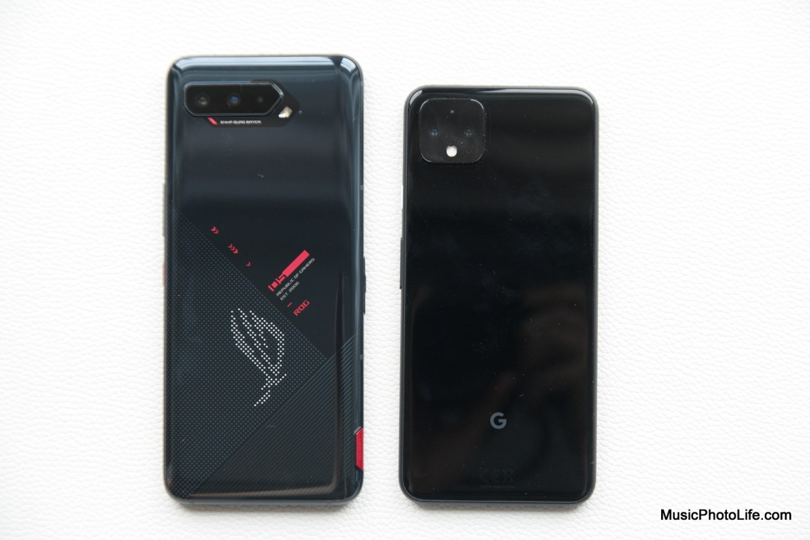 ASUS ROG Phone 5 compared with Google Pixel 4XL