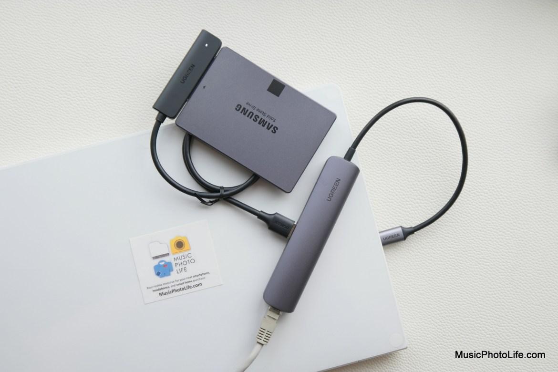 UGREEN USB Hub, SATA HDD converter