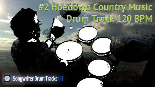 Hoedown Country Music Drum Track - Tempo 120 BPM