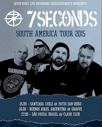 7 SECONDS dará Concierto en Argentina 7