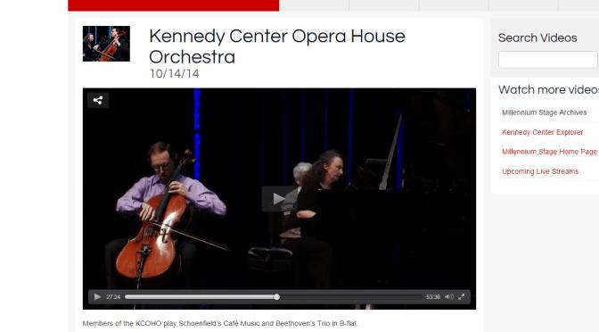 Kennedy Center concert