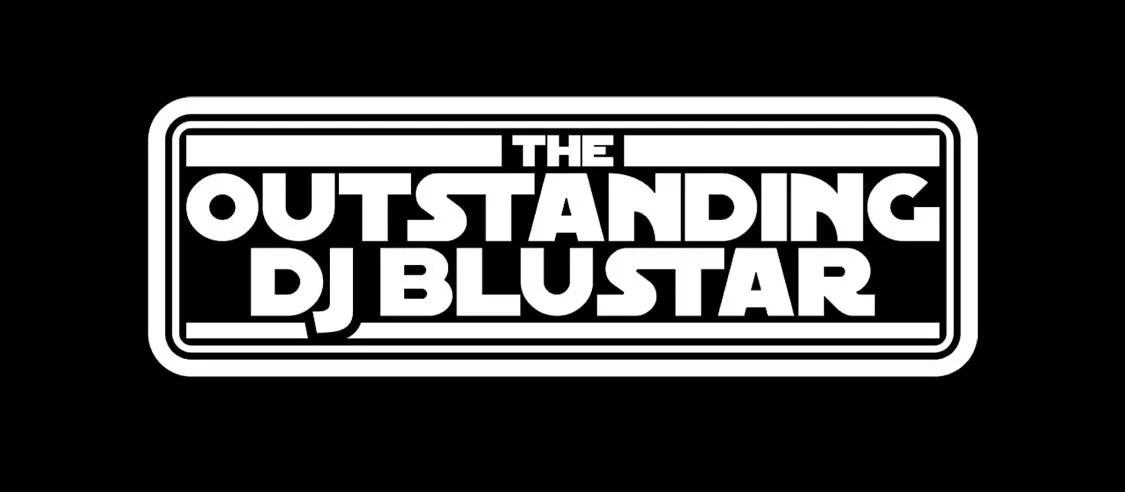DJ Blustar White on Black