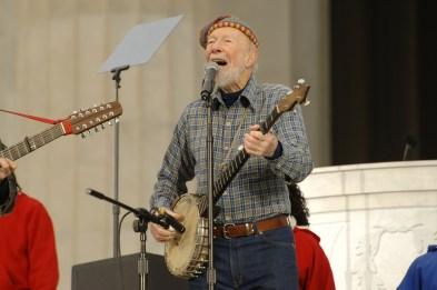 Pete Seeger Playing Banjo