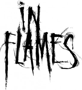 In Flames Logo - black on white