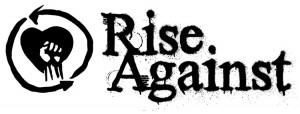 Rise Against Logo - black on white - horizontal