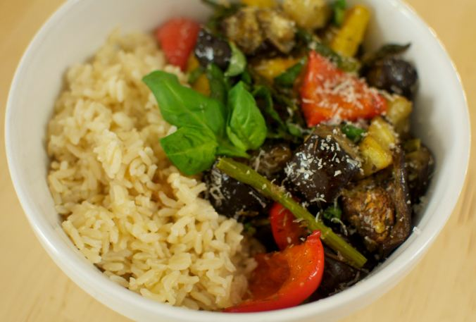 Roasted Vegetables and Rice